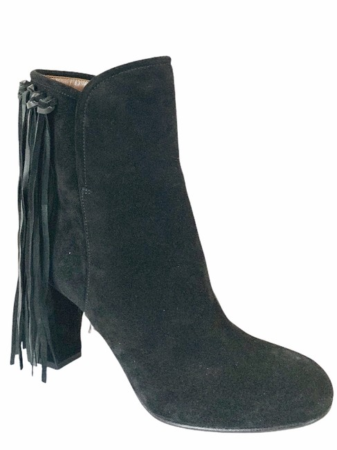 Item - Black Fringed Boots/Booties Size EU 39 (Approx. US 9) Wide (C, D)