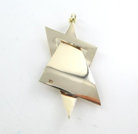 Other 14K SOLID YELLOW GOLD PENDANT STAR OF DAVID HAMMERED DESIGN 13 GRAMS JEWISH JEW