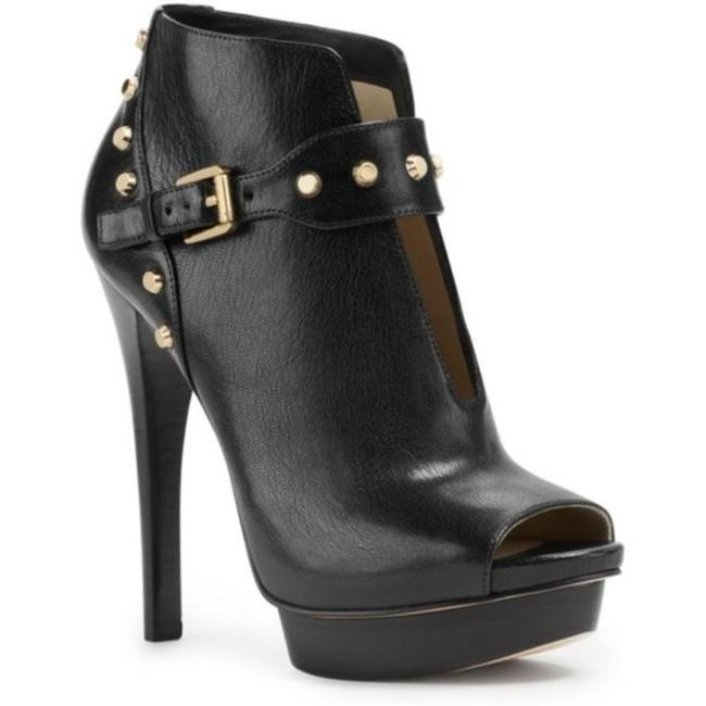 Item - Black Gold Ailee Peeptoe Leather Boots/Booties Size US 9.5 Regular (M, B)