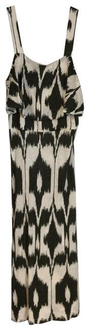 Item - Green and White Ikat Long Casual Maxi Dress Size 4 (S)