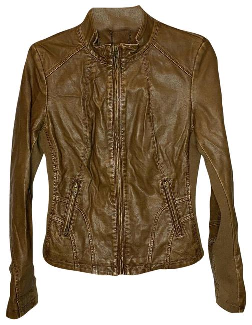 Item - Brown Motorcycle Jacket Size 0 (XS)