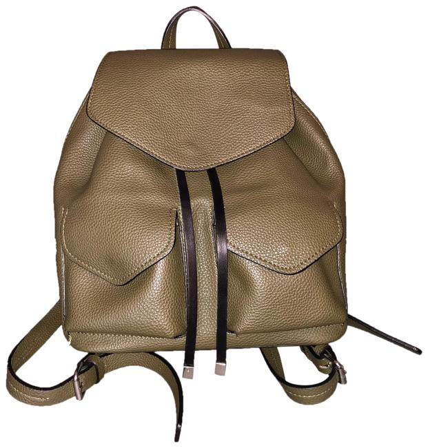 Item - Drawstring Pebbled Olive Green Polyester Backpack