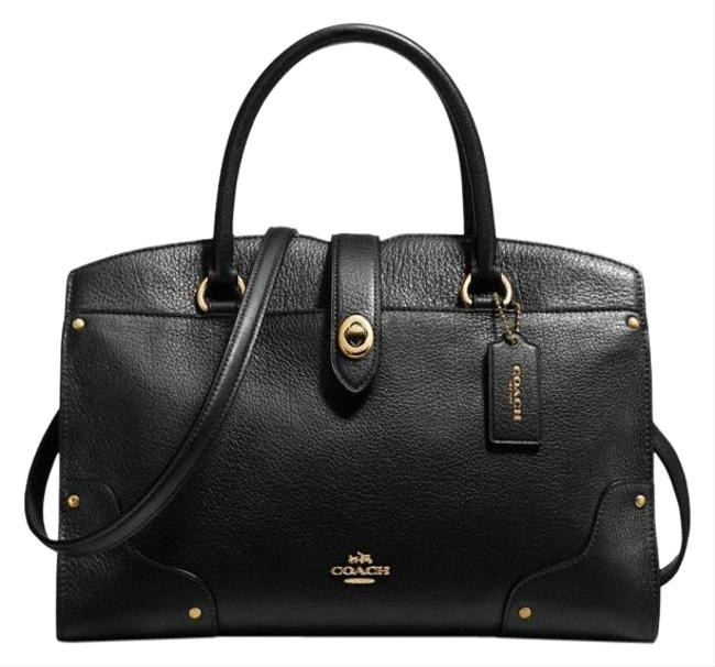 Coach Mercer 30 Black Leather Satchel Coach Mercer 30 Black Leather Satchel Image 1