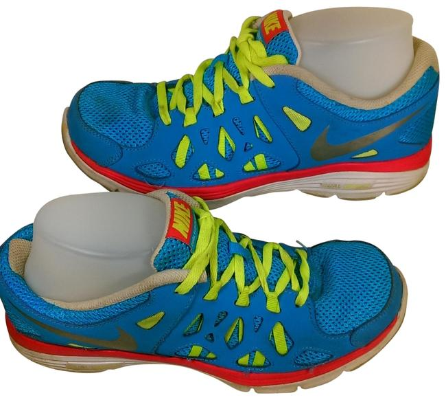 """Item - Blue W/Pink Accents Woman's Dual Fusion Run 2 Gs """"Vivid Running Jogging Trainer Sneakers Size US 7 Regular (M, B)"""