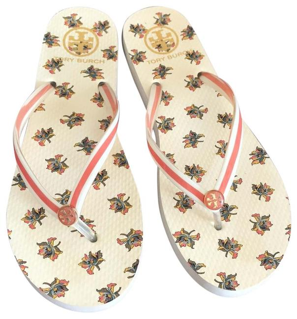 Item - Beige and Orange T Don't Have One Flats Size US 8 Regular (M, B)