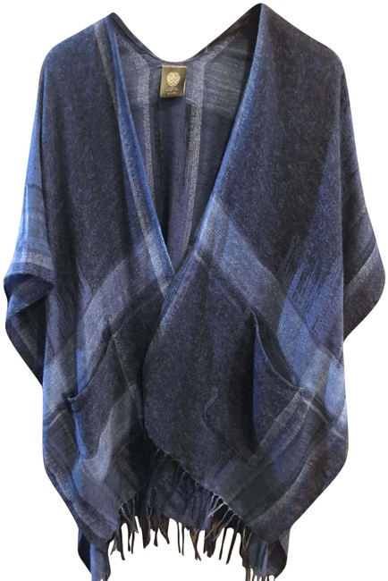 Item - Blue - White And Poncho/Cape Size OS (one size)