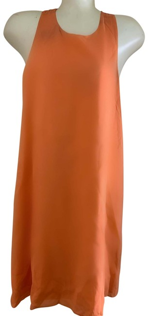 Item - Peach And Mid-length Short Casual Dress Size 0 (XS)
