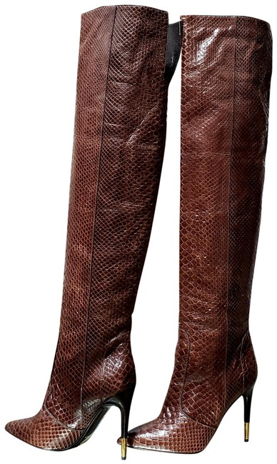 Item - Brown New Anaconda Over The Knee 38.5 - Boots/Booties Size US 8.5 Narrow (Aa, N)