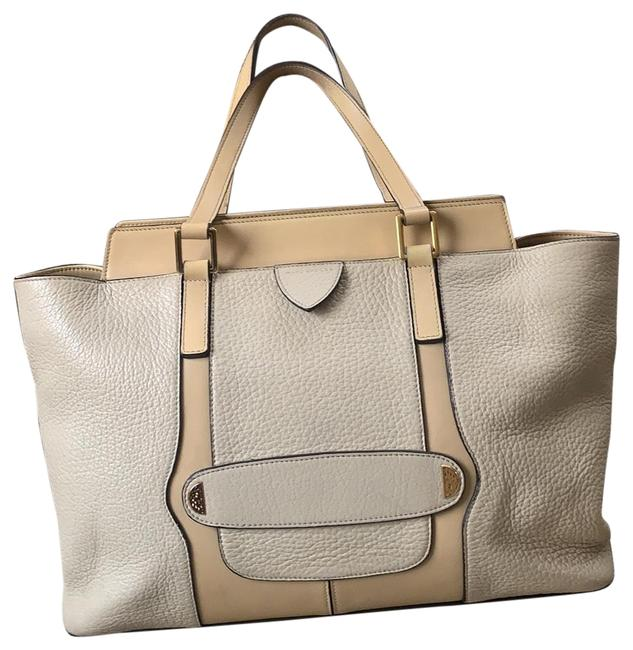 Item - Beige / Leather Tote
