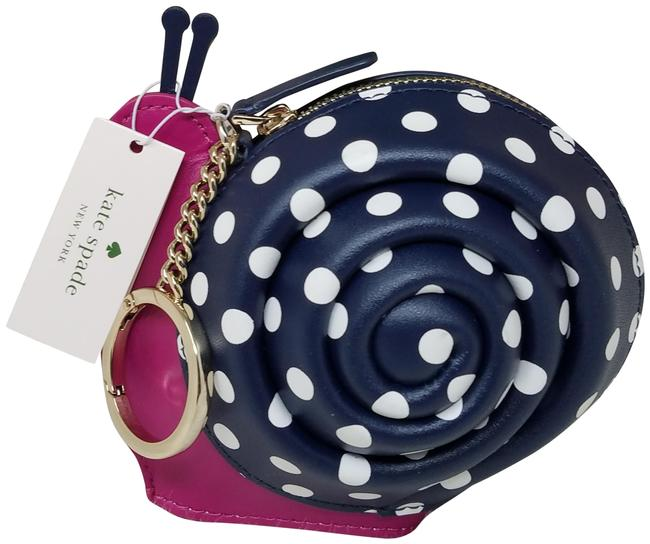 Item - Enchanted Blue White Forest Snail Key Fob Coin Purse