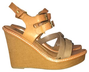Dolce Vita Tan Brown Wedges