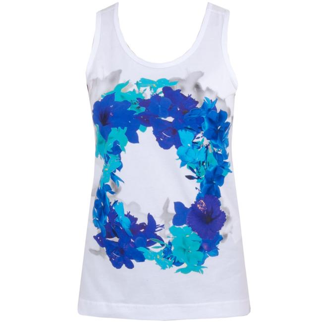 Item - White Organic Essential Blossom Activewear Top Size 4 (S)