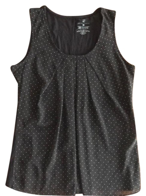 Item - Black and Gold Polka Dots Tank Top/Cami Size 6 (S)