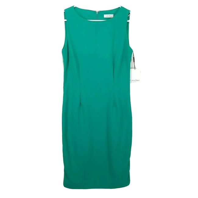 Item - Green Sleeveless Sheath Short Work/Office Dress Size 6 (S)