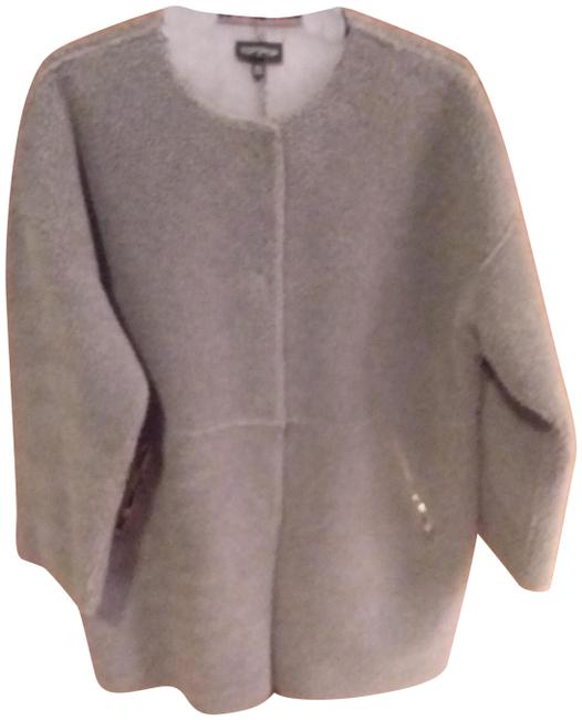 Item - Gray Faux Shearling Coat Size 6 (S)