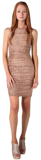 Item - Dusty Pink Ginger Rouched Fitted Short Cocktail Dress Size 8 (M)