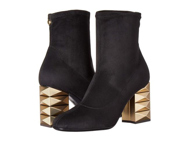 Item - Black Stretch Suede Slip-on Ankle Boots/Booties Size US 7 Regular (M, B)