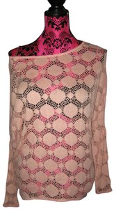 S-Twelve PINK blouse crochet shirt