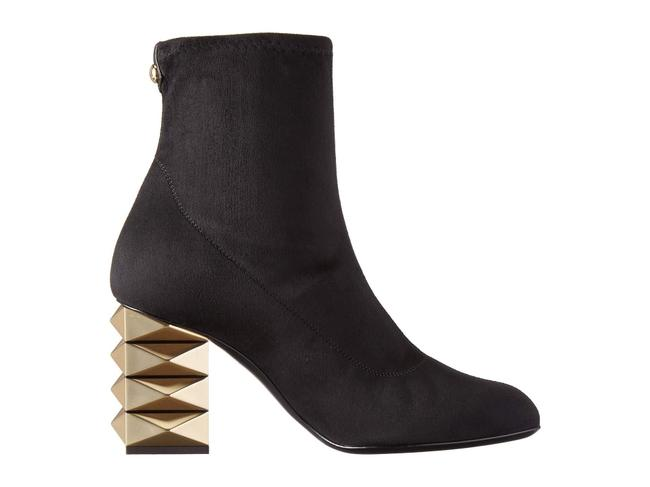Item - Black Stretch Suede Slip-on Ankle Boots/Booties Size US 8 Regular (M, B)