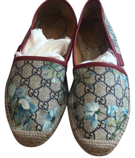Item - Logo Slides with and Floral Pattern Flats Size US 8.5 Regular (M, B)