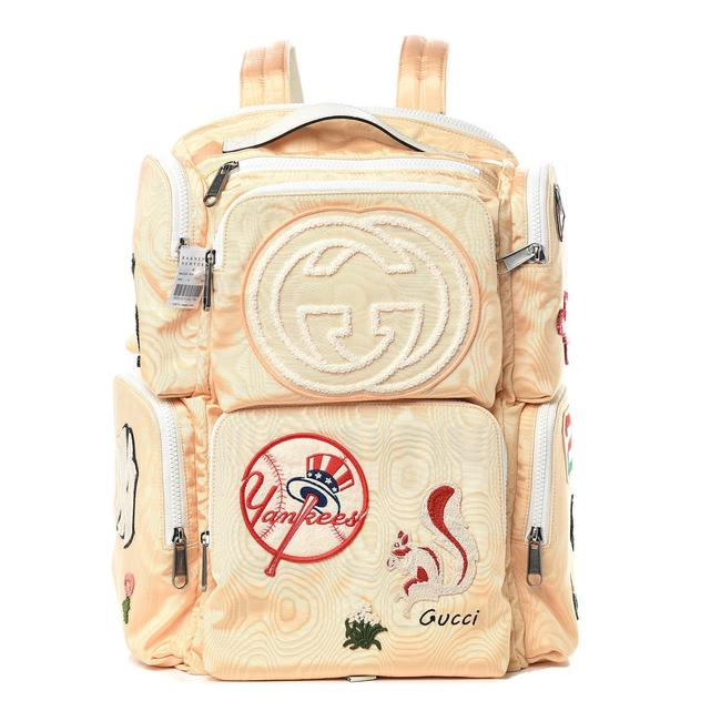 Item - Yankees Patch 1gg1016 Peach Nylon Backpack