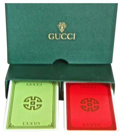 Gucci VINTAGE GUCCI DOUBLE DECK PLAYING CARDS W/ CASE