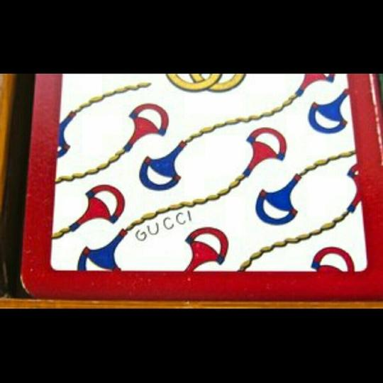Gucci GUCCI Vintage Green & Red Playing Cards 2 Decks w/Box