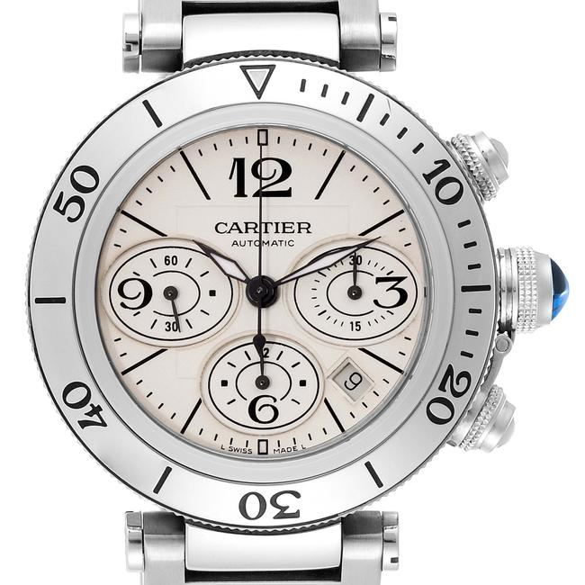 Item - Silvered Pasha Seatimer Chrono Stainless Steel Mens W31089m7 Watch