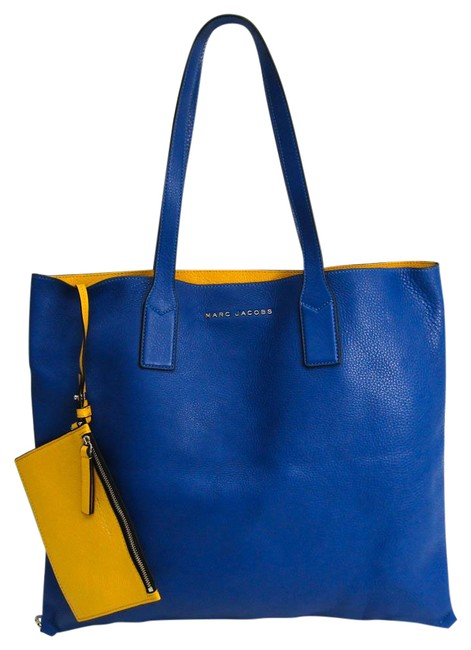 Item - Bag Wingman Wingman M0008126 Women's Blue / Yellow Leather Tote