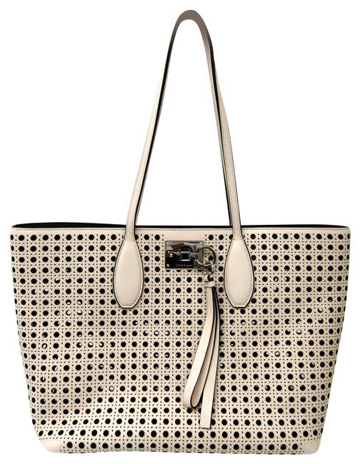 Item - Bag Au-21 / H694 Women's Ivory / Light Pink Leather Tote