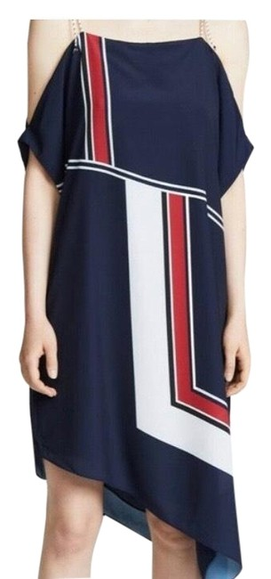 Item - Navy/ Red/White Edythe Mid-length Short Casual Dress Size 4 (S)