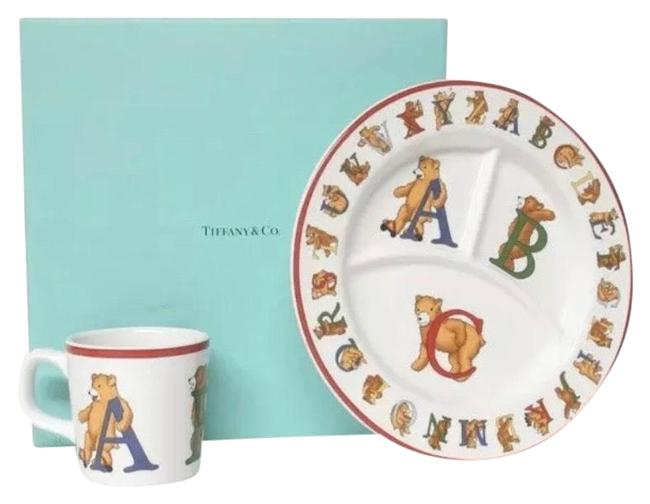 Item - Multicolor Vintage Alphabet Bears Baby Dish/Mug Set