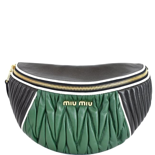 Item - Bum Two-tone Matelasse Belt Black/Green Black Leather Messenger Bag