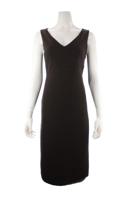 Item - Brown Vintage Sleeveless Sheath Long Formal Dress Size 8 (M)