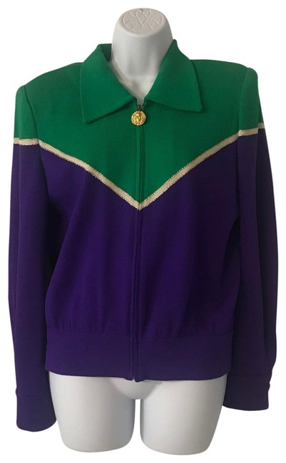 Item - Purple Green Gold And Jacket Blazer Size 4 (S)