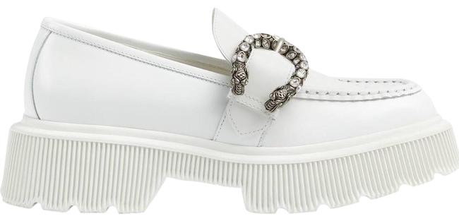 Gucci Crystal Tiger Head Buckle Leather Loafer Flats Size EU 36 (Approx. US 6) Regular (M, B) Gucci Crystal Tiger Head Buckle Leather Loafer Flats Size EU 36 (Approx. US 6) Regular (M, B) Image 1