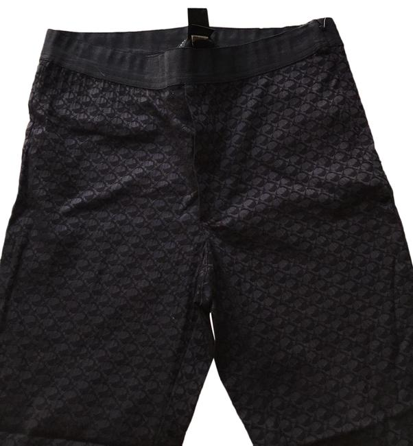 Item - Black Purple Multi Stretchy Pants Size 8 (M, 29, 30)