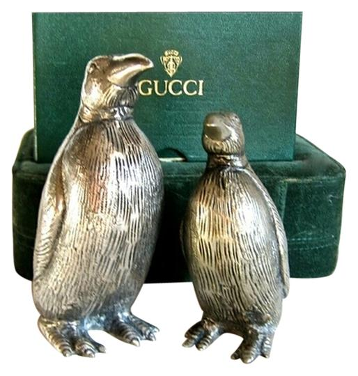 Gucci Gucci Vintage Signed Penguin Silver Salt & Pepper Shakers-RARE COLLECTORS ITEMS