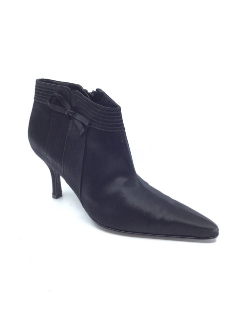 Item - Black Satin Matia Ankle Boots/Booties Size US 7 Regular (M, B)