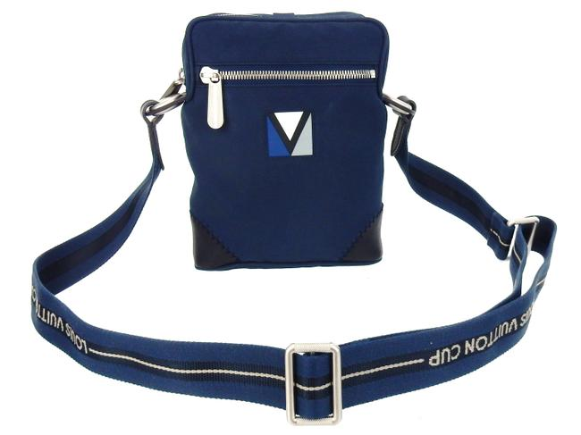 Item - Crossbody Lv Cup Blue Nylon and Leather Messenger Bag