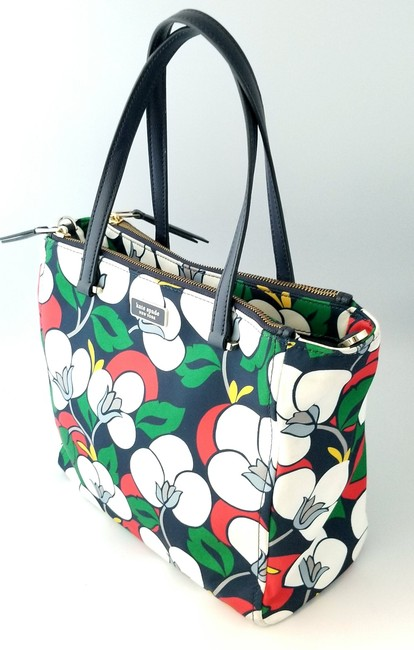 Kate Spade Floral Dawn Breezy Purse and Matching Wallet Multicolor Nylon Tote Kate Spade Floral Dawn Breezy Purse and Matching Wallet Multicolor Nylon Tote Image 2