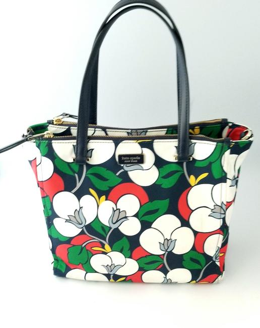 Kate Spade Floral Dawn Breezy Purse and Matching Wallet Multicolor Nylon Tote Kate Spade Floral Dawn Breezy Purse and Matching Wallet Multicolor Nylon Tote Image 3