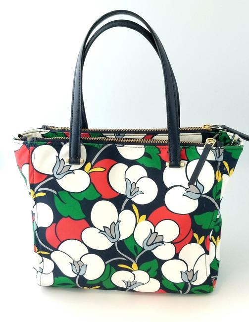 Kate Spade Floral Dawn Breezy Purse and Matching Wallet Multicolor Nylon Tote Kate Spade Floral Dawn Breezy Purse and Matching Wallet Multicolor Nylon Tote Image 4