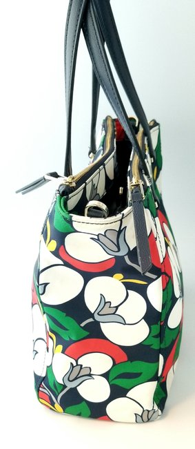 Kate Spade Floral Dawn Breezy Purse and Matching Wallet Multicolor Nylon Tote Kate Spade Floral Dawn Breezy Purse and Matching Wallet Multicolor Nylon Tote Image 5