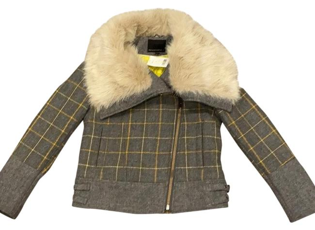 Item - Gray Mustard Yellow and White with A Gur Trim Collar Holiday Line 2015 Winter Jacket Coat Size 2 (XS)