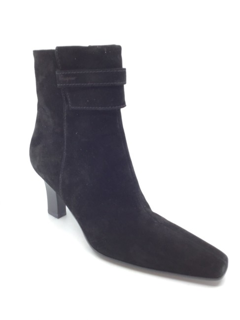 Item - Black Suede Calfskin Molly Boots/Booties Size US 7 Regular (M, B)