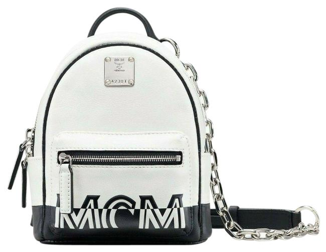 Item - Crossbody Chain Bag Mini In Contrast Logo Mwr9acl11wt001 White Leather Backpack