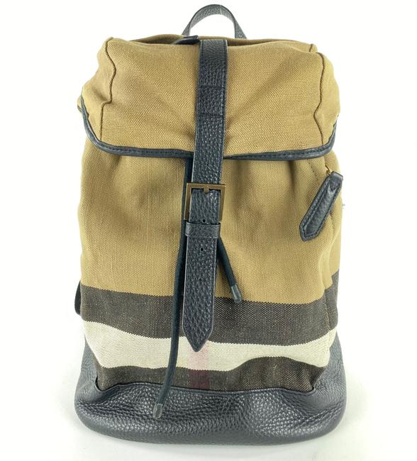 Item - Nova Check Drifton 13bur1022 Beige Canvas Backpack