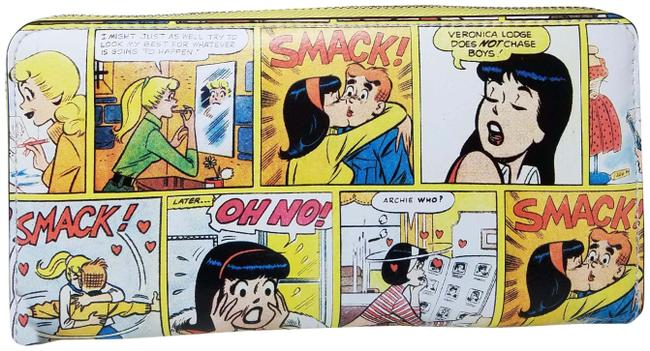 Item - Yellow Black White X Archie Comics Betty & Veronica Large Continental Wallet
