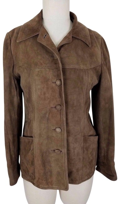Item - Brown By New England Sportswear Brushed Womens Jacket Size 6 (S)